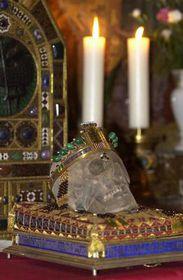 Cráneo de San Venceslao (Foto: CTK)