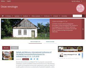 Oficiální stránky Ústavu etnologie