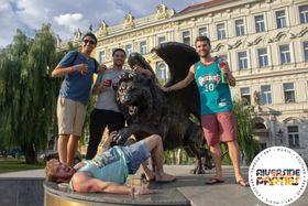 Крылатый лев – памятник чехословацким пилотам, воевавшим с нацистами в составе RAF, фото: Riverside Parties Prague