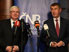 Jiří Rusnok, Andrej Babiš, photo: ČTK/Michal Krumphanzl