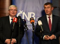 Jiří Rusnok et Andrej Babiš, photo: ČTK / Michal Krumphanzl