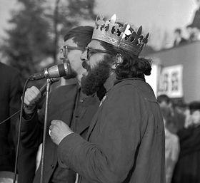 Allen Ginsberg in Prague, 1965, photo: CTK
