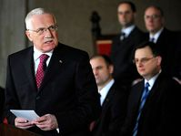 Président Václav Klaus, photo: CTK