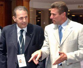 Jacques Rogge y Sergej Bubka, foto: CTK