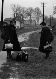 After the border crossing in Germany, October 1949, photo: archive of Sylva Šimsová