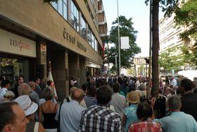 The remembrance ceremony in front of the Czech Radio building, photo: Jiří Němec