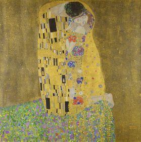 Klimtův Polibek, foto: archiv galerie Belvedere, Wikimedia Commons, Public Domain