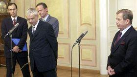 Вацлав Гавел (направо), Владимир Шпидла, Цырил Свобода и Иван Пилип (Фото: ЧТК)