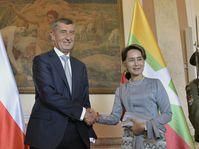 Andrej Babiš, Suu Kyi, photo: ČTK/Michaela Říhová