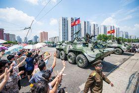 Military parade in North Korea, photo: Uri Tours, CC BY-SA 2.0
