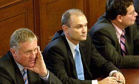 Zleva: Mirek Topolánek, Ivan Langer aAlexander Vondra, foto: ČTK