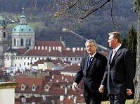 Jean-Claude Juncker et Mirek Topolánek, photo: CTK