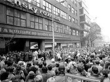 Radio publique tchèque, le 17 novembre 1989. Photo: Archives de Radio publique tchèque