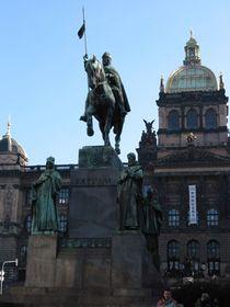 La estatua de San Venceslao en Praga