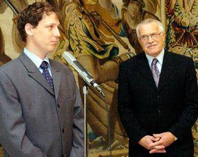 Станислав Гросс и Вацлав Клаус (Фото: ЧТК)