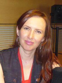 Míla Fürstová ve studiu Radia Praha, foto: Miroslav Krupička / Český rozhlas - Radio Praha