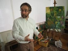 Jaroslav Gorbanevski en su taller parisino, foto: Artinbox Gallery