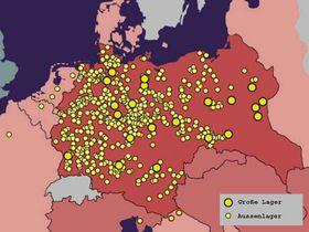 KZ-Lager und KZ-Außenlager (Quelle: Anne Frank Stiftung)