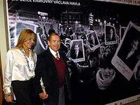 Václav Havel s manželkou Dagmar na zahájení výstavy, foto: ČTK