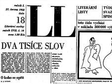 «Две тысячи слов» опубликовано 27 июня 1968 в издании Literární listy, фото: Moderní dějiny