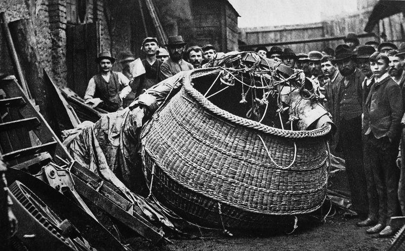 Ztroskotání balonu Kysibelka, 1891, foto: volné dílo