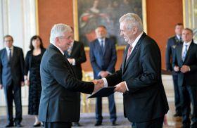 Jiří Rusnok und Miloš Zeman (Foto: ČTK)