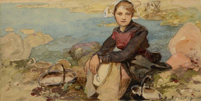 Alfons Mucha, 'Au bord', autour 1900, photo: Mucha Trust