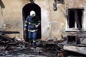 El incendio en el pueblo de Vítkov, foto: CTK