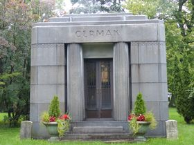 Hrobka bývalého chicagského starosty Cermaka, foto: Klára Stejskalová