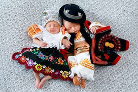 Lullaby: Babies in Slovak Folk Dress, photo: archive of National Czech and Slovak Museum in Cedar Rapids
