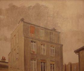 Maison place de la Bastille, huile sur toile, 1981
