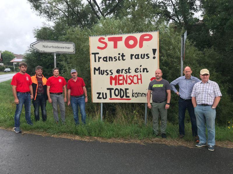 Bürgerinitiative kämpft gegen den zunehmenden Lastverkehr in Všeruby und Eschlkam (Foto: Natalie Meyer)