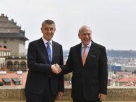Andrej Babiš se sešel s generálním tajemníkem OECD José Ángelem Gurríou, foto: ČTK / Michal Kamaryt