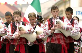 Bagpipers from Bulgaria, photo: CTK