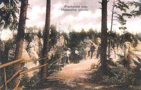 Postal histórica de las Rocas de Prachov