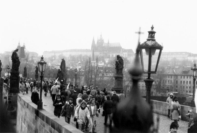 1989 en Praga, foto: Bedřich Kaas, ČRo