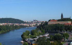 La vista sobre el Castillo de Praga y el de Vyšehrad desde la depuradora. Foto: Daniel Ordóñez