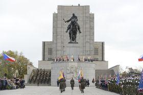 Gedenkakt am Nationaldenkmal auf dem Prager Vítkov-Hügel (Foto: ČTK)