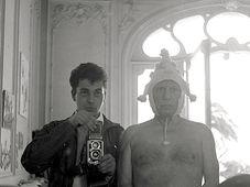 André Villers avec Pablo Picasso, photo: André Villers