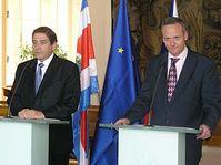 Ministro de RR.EE. de Costa Rica, Roberto Tovar y su homólogo checo, Cyril Svoboda (Foto: autor)