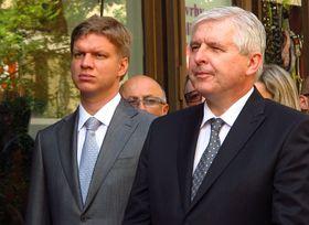 Tomáš Hudeček, Jiří Rusnok, photo: Kristýna Maková