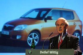 Detlef Wittig y el nuevo Fabia (Foto: CTK)