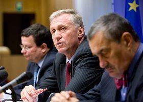 Alexandr Vondra, Mirek Topolánek, Karel Schwarzenberg, photo: CTK