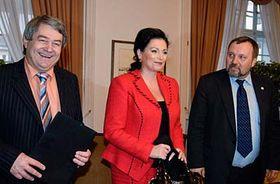 Vojtěch Filip, Jana Bobošíková, Pavel Kováčik, photo: CTK