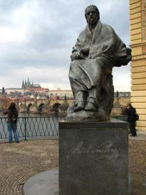 Bedřich Smetana's statue in Prague