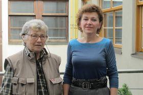 Наталья Горбаневская с Лоретой Вашковой, октябрь 2013 г. (Фото: Кристина Макова, Чешское радио - Радио Прага)