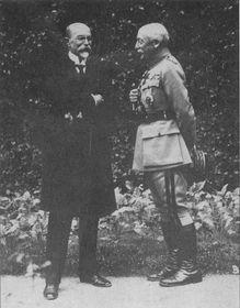 Maurice Pellé avec T. G. Masaryk, photo: Carnet de croquis/Général Pellé