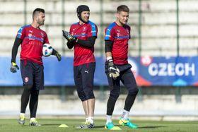 Tomáš Koubek, Petr Čech, Tomáš Vaclík, photo: CTK