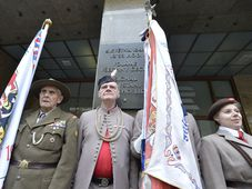 Acto solemne frente al edificio de la Radiodifusión Checa, foto: ČTK / Michaela Říhová
