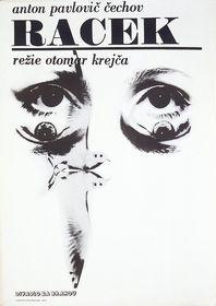 Plakát ke hře A. P. Čechova Racek, Divadlo Za branou, 1972, foto: Miroslav Krupička